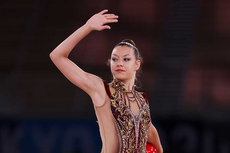 新体操、米国代表のエビータ・グリスケナス【写真:Getty Images】