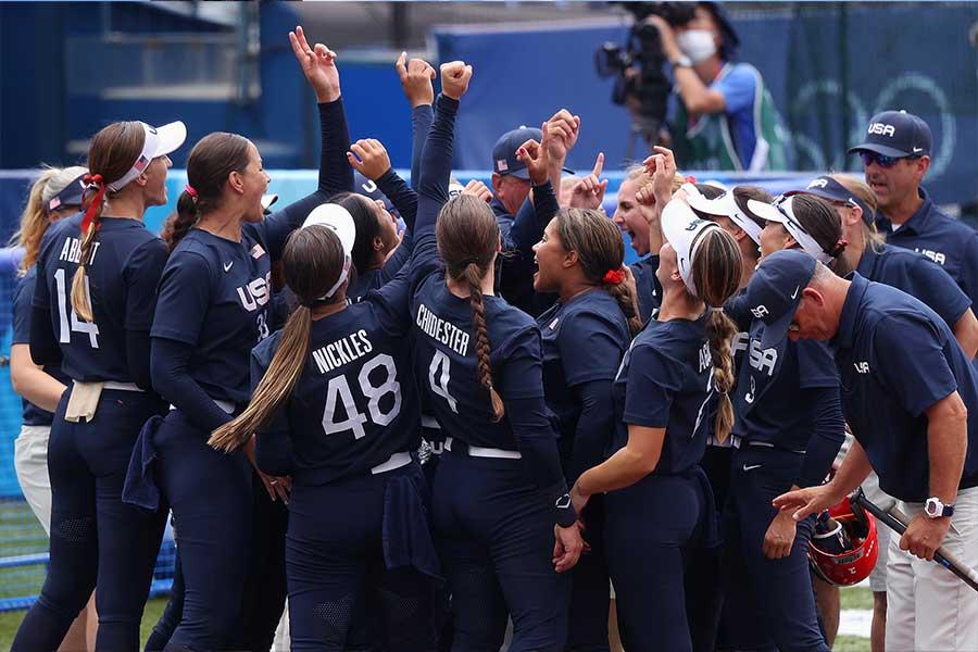 決勝で日本と対戦したソフトボールアメリカ代表【写真:Getty Images】