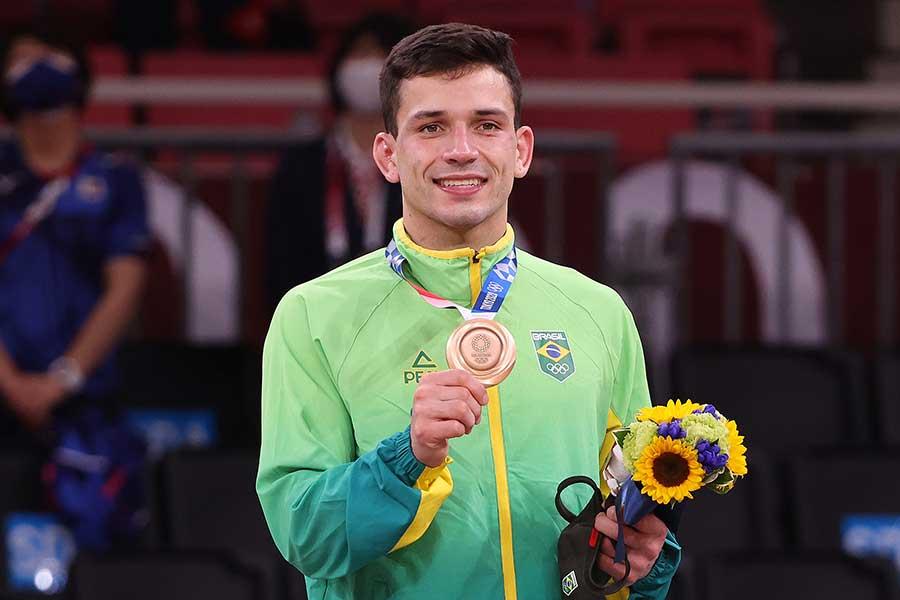 柔道男子66キロ級で銅メダルを獲得したブラジルのダニエル・カルグニン【写真:Getty Images】