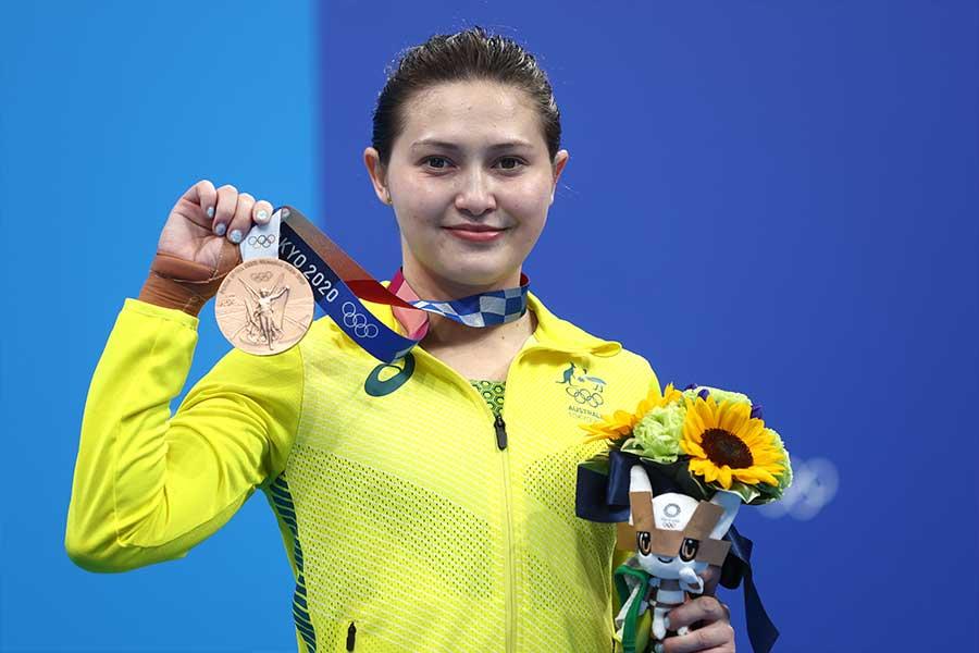 女子10メートル飛込銅メダルを獲得したメリッサ・ウー【写真:Getty Images】