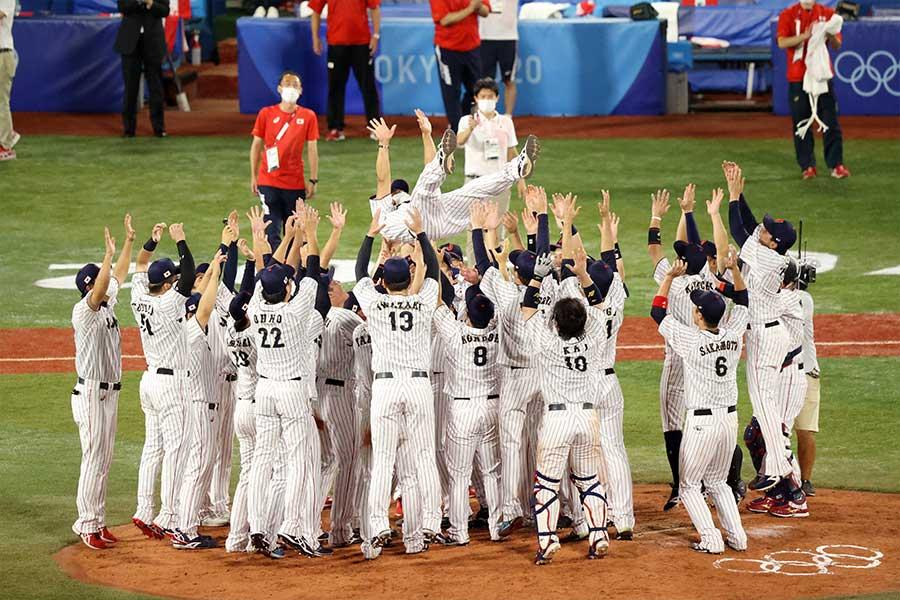 野球決勝では日本代表が勝利し、金メダルに輝いた【写真:Getty Images】