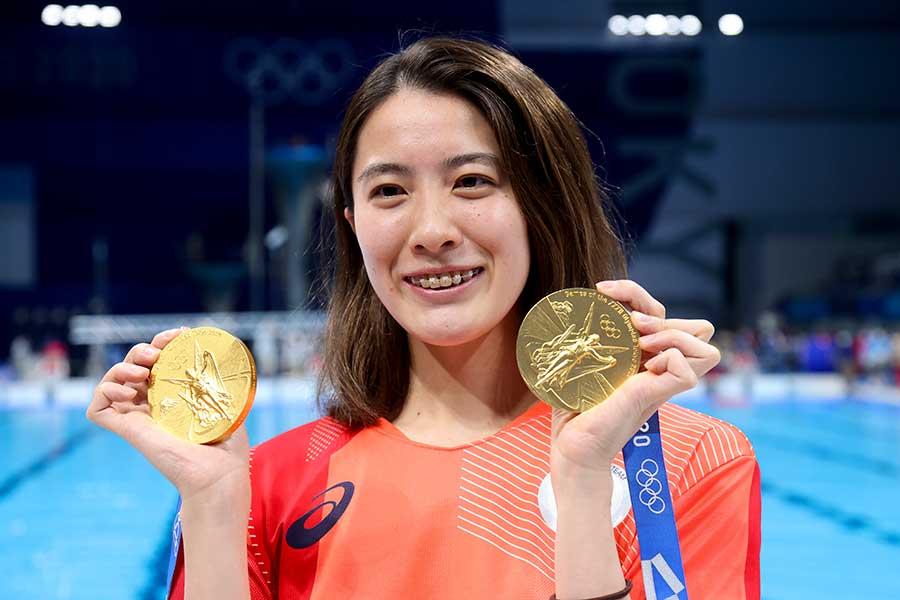 金メダルを2つ獲得した大橋悠依【写真:Getty Images】