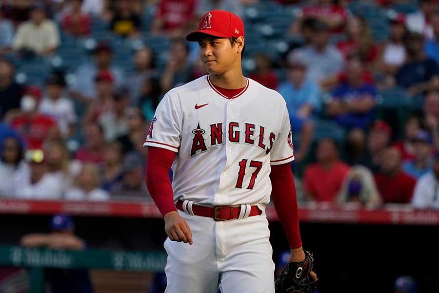 6回2失点と好投し、今季7勝目を手にしたエンゼルスの大谷翔平【写真:AP】