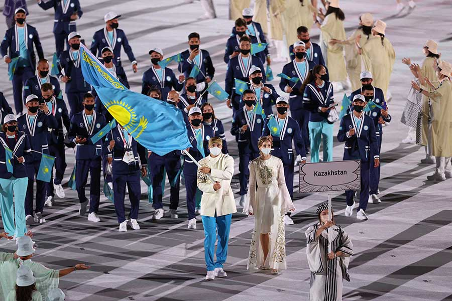 東京五輪の開会式で話題になったカザフスタンのオルガ・リパコワ【写真:Getty Images】