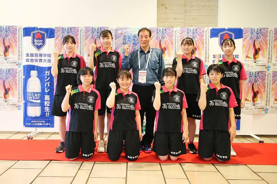 創部3年目にして初のインターハイに出場した福岡女学院卓球部【写真:山田智子】