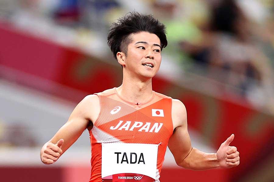 東京五輪・陸上男子100m、400mリレーに出場した多田修平【写真:Getty Images】