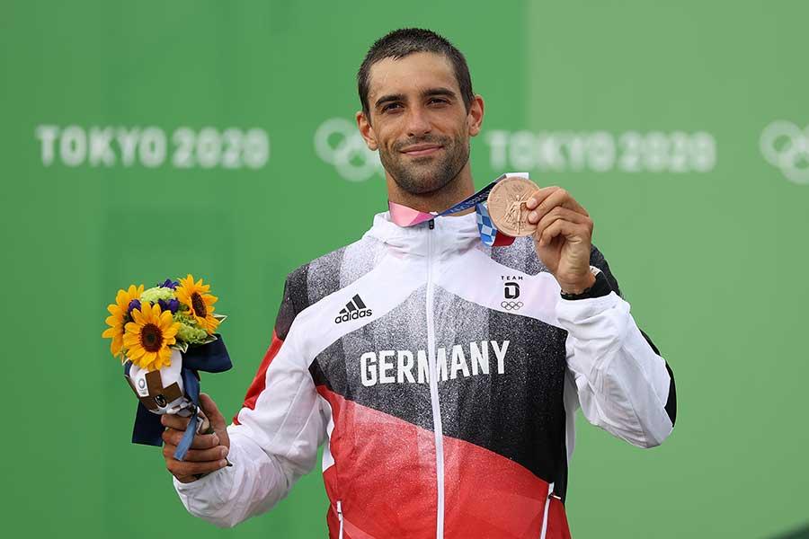 カヌー・スラロームで銅メダルを獲得したアイグナー【写真:Getty Images】