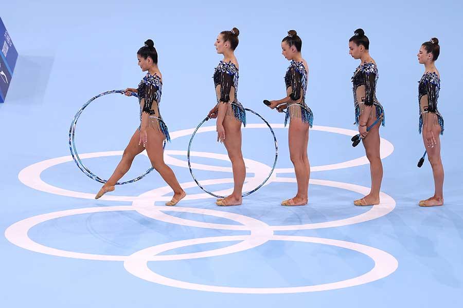 東京五輪・新体操団体に出場したオーストラリア代表【写真:Getty Images】