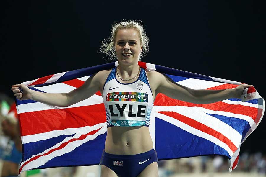 英国の陸上・女子短距離選手のマリア・ライル【写真:Getty Images】