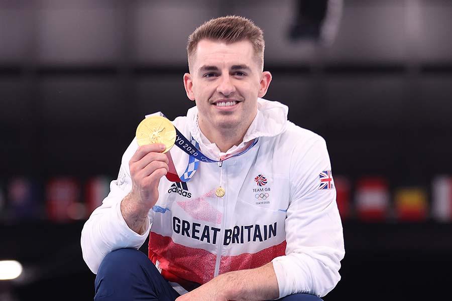 体操男子種目別あん馬で金メダルを獲得したマックス・ウィットロック【写真:Getty Images】