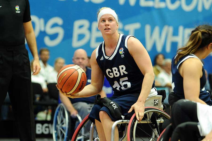 英国の車いすバスケットボール女子代表ロビン・ラブ【写真:Getty Images】