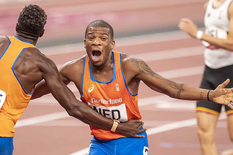 男子4×400メートルに出場したオランダのラムセイ・アンヘラ【写真:Getty Images】