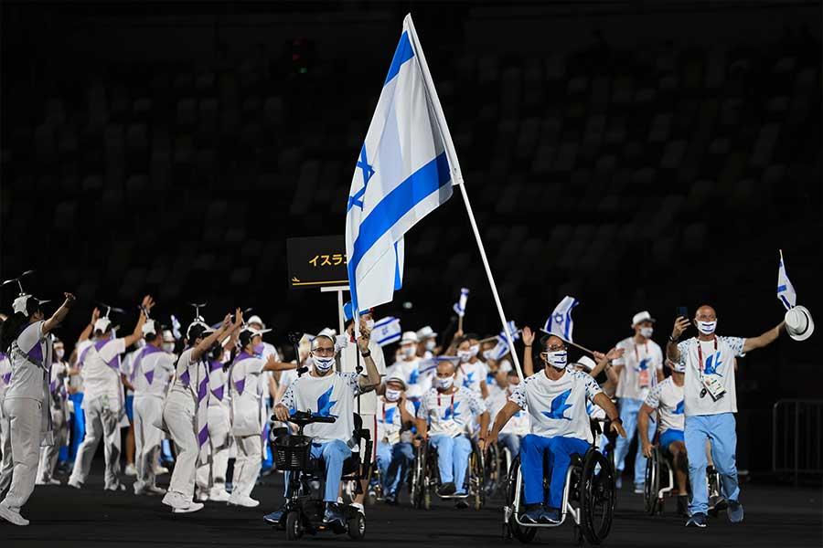 イスラエル選手団の盲導犬が注目を集めた【写真:Getty Images】