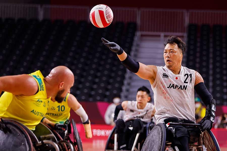 車いすラグビー日本代表は、予選1位での準決勝進出を決めた【写真:Getty Images】