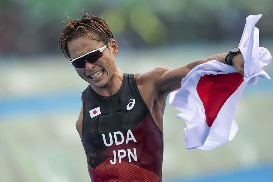 パラリンピックのトライアスロン男子で銀メダルを獲得した宇田秀生【写真:AP】