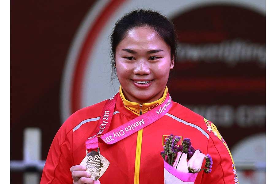 パラ重量挙げ、中国代表の譚玉嬌【写真:Getty Images】