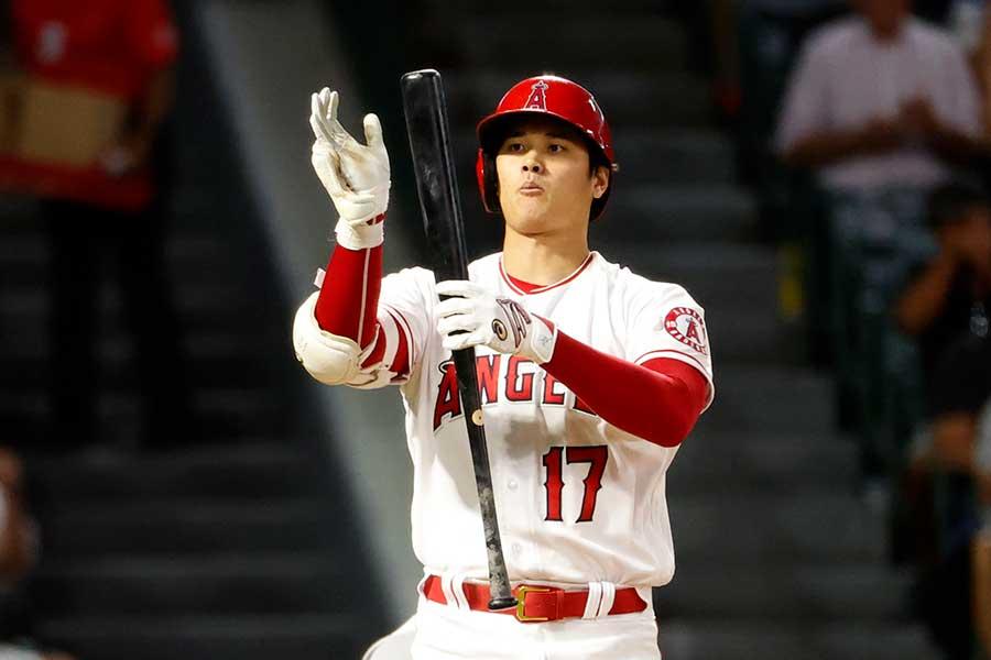 ヤンキース戦に「2番・DH」で出場した大谷翔平【写真:AP】