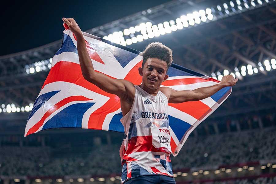 東京パラリンピック、陸上男子100メートル(T38)で優勝したトーマス・ヤング【写真:AP】
