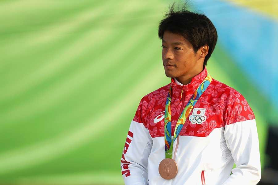 銅メダルを獲得したリオ五輪の羽根田【写真:Getty Image】