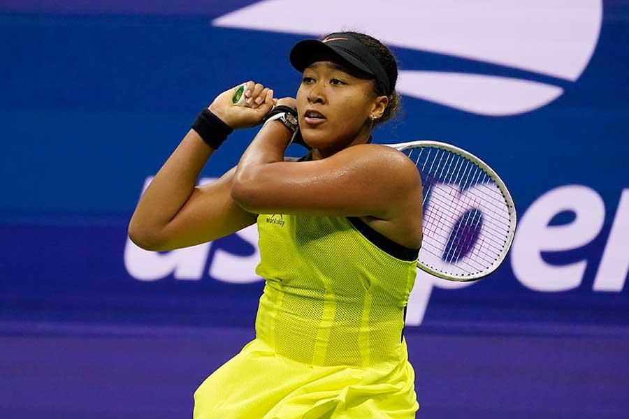 全米オープン女子シングルス3回戦で逆転負けを喫した大坂なおみ【写真:AP】