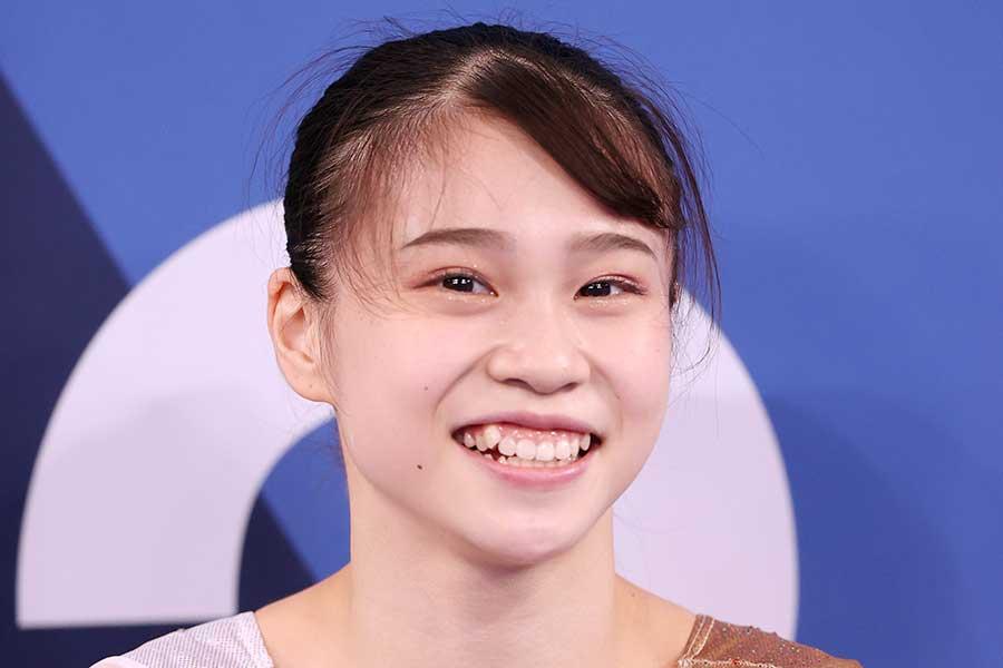 東京五輪に出場した体操女子の杉原愛子【写真:Getty Images】