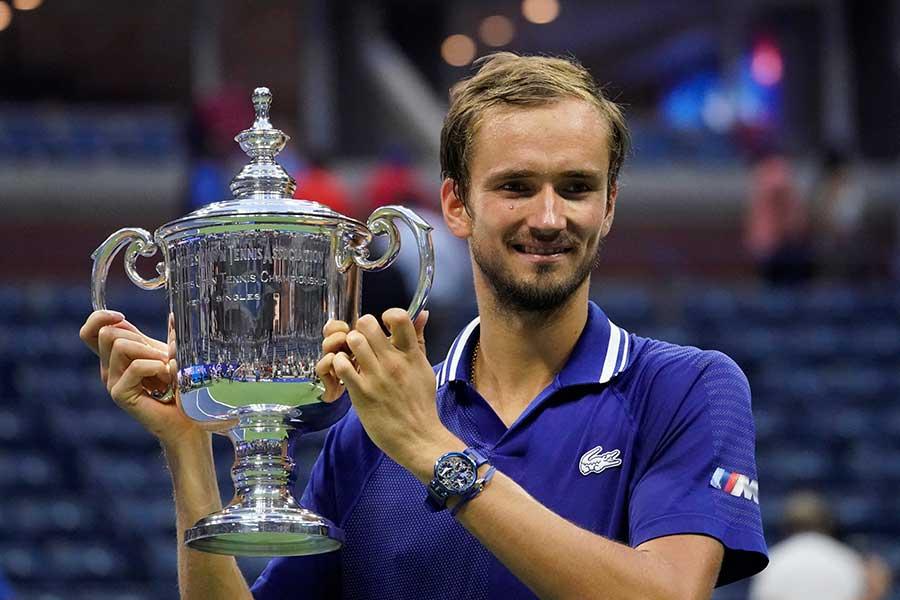 全米オープンで優勝したダニール・メドベージェフ【写真:AP】