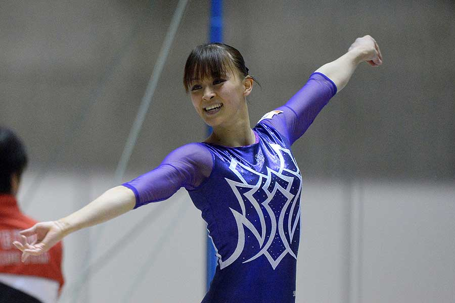 現役時代の田中理恵さん(撮影は2012年)【写真:Getty Images】