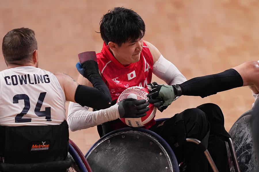 車いすラグビー日本代表の羽賀理之【写真:Getty Images】