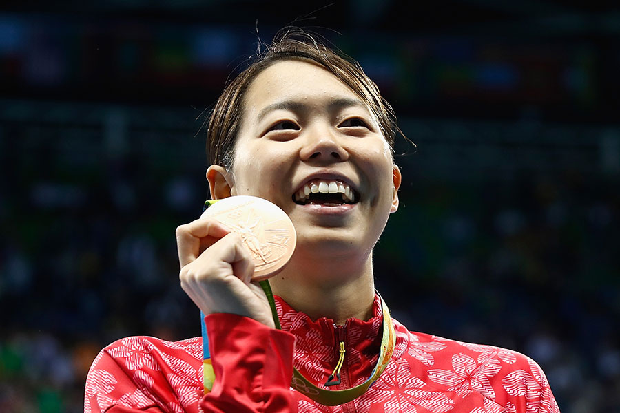 競泳のリオデジャネイロ五輪女子200メートルバタフライで銅メダルを獲得した星奈津美さん【写真:Getty Images】
