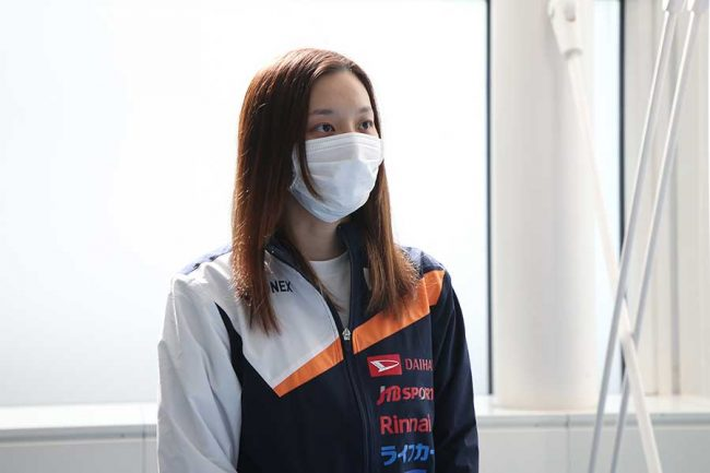 日本代表チームの副主将、女子チームの主将を務める高橋沙也加【写真:平野貴也】