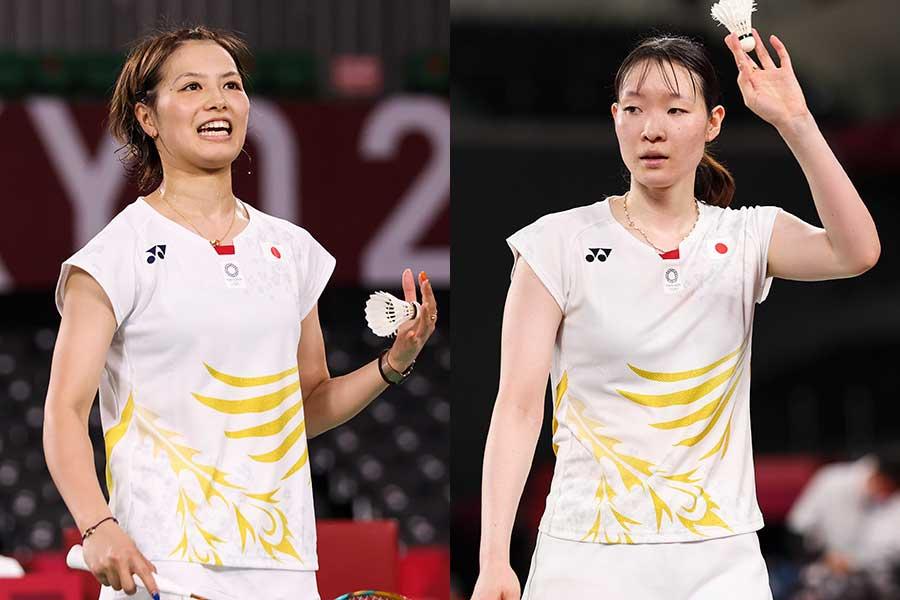 急造ペアで国際大会へ出場する福島由紀(左)と松本麻佑【Getty Images】