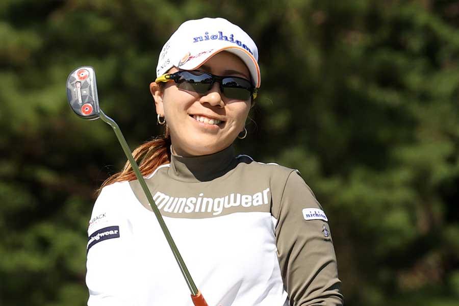 日本女子オープン第2ラウンドを終え通算4アンダーの宮里美香【写真:Getty Images】