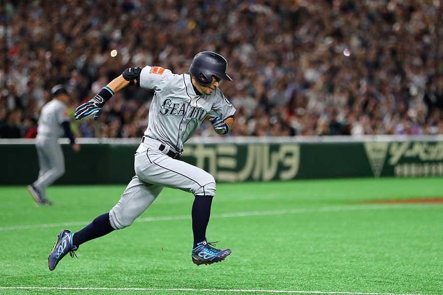 引退試合でのイチロー氏【写真:Getty Images】