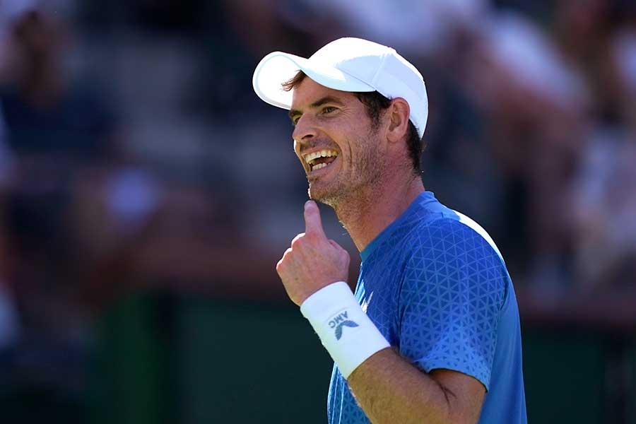 BNPパリバ・オープン2回戦に2-1で勝利したアンディ・マレー【写真:AP】