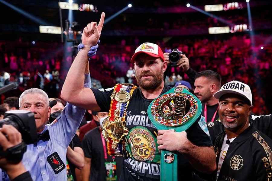 WBC世界ヘビー級王者のタイソン・フューリー【写真:AP】