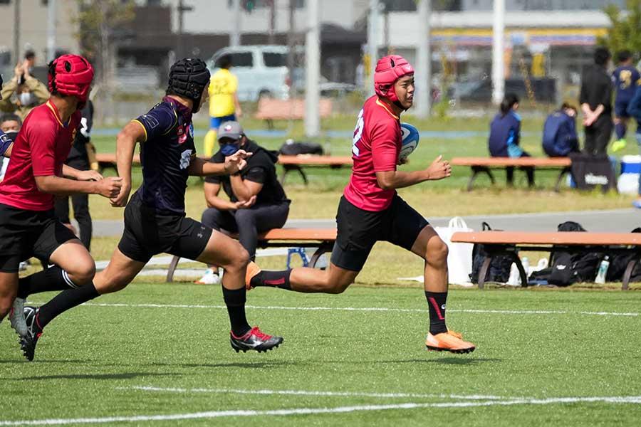 菊谷氏のアドバイスを生かし、練習試合では40-5の勝利を収めた【写真:村上正広】