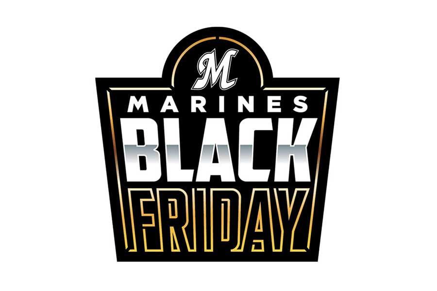 ロッテが13日からのソフトバンク3連戦で開催する「MARINES BLACK FRIDAY」ロゴ【写真:球団提供】